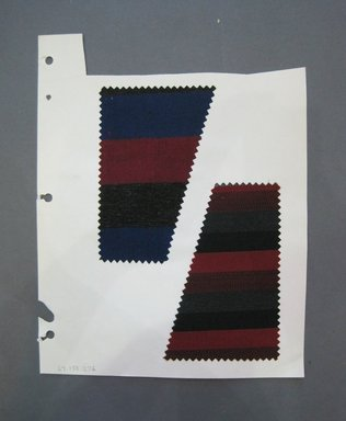 Fab-Tex Inc.. <em>Fabric Swatch</em>, 1963-1966. Cotton, acrylic or cellophane fiber, paper, sheet: 10 1/2 x 8 1/4 in. (26.7 x 21 cm). Brooklyn Museum, Gift of Fab-Tex Inc., 67.158.276 (Photo: Brooklyn Museum, CUR.67.158.276.jpg)