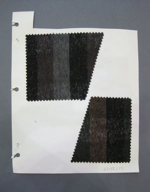 Fab-Tex Inc.. <em>Fabric Swatch</em>, 1963-1966. Wool, mohair or cellophane fiber, paper, sheet: 10 1/2 x 8 1/4 in. (26.7 x 21 cm). Brooklyn Museum, Gift of Fab-Tex Inc., 67.158.277 (Photo: Brooklyn Museum, CUR.67.158.277.jpg)