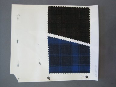 Fab-Tex Inc.. <em>Fabric Swatch</em>, 1963-1966. Wool, paper, sheet: 10 1/2 x 8 1/4 in. (26.7 x 21 cm). Brooklyn Museum, Gift of Fab-Tex Inc., 67.158.279 (Photo: Brooklyn Museum, CUR.67.158.279.jpg)