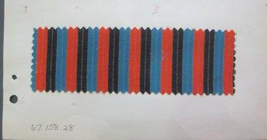 Fab-Tex Inc.. <em>Fabric Swatch</em>, 1963-1966. Cotton, sheet: 8 1/4 x 10 1/2 in. (21 x 26.7 cm). Brooklyn Museum, Gift of Fab-Tex Inc., 67.158.28 (Photo: Brooklyn Museum, CUR.67.158.28.jpg)