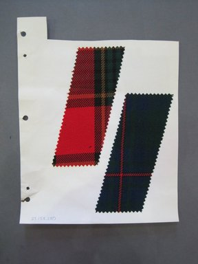 Fab-Tex Inc.. <em>Fabric Swatch</em>, 1963-1966. Wool, paper, sheet: 10 1/2 x 8 1/4 in. (26.7 x 21 cm). Brooklyn Museum, Gift of Fab-Tex Inc., 67.158.280 (Photo: Brooklyn Museum, CUR.67.158.280.jpg)
