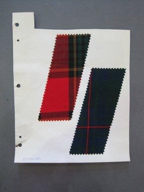 Fab-Tex Inc.. <em>Fabric Swatch</em>, 1963-1966. Wool, paper, sheet: 10 1/2 x 8 1/4 in. (26.7 x 21 cm). Brooklyn Museum, Gift of Fab-Tex Inc., 67.158.280 (Photo: Brooklyn Museum, CUR.67.158.280.jpg)