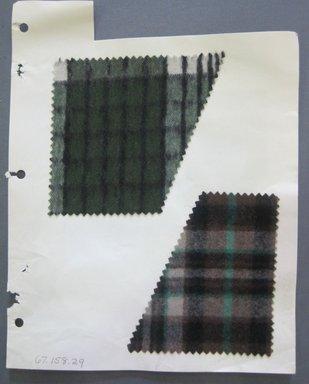 Fab-Tex Inc.. <em>Fabric Swatch</em>, 1963-1966. Cotton, sheet: 8 1/4 x 10 1/2 in. (21 x 26.7 cm). Brooklyn Museum, Gift of Fab-Tex Inc., 67.158.29 (Photo: Brooklyn Museum, CUR.67.158.29.jpg)