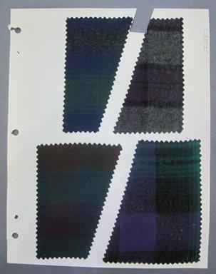 Fab-Tex Inc.. <em>Fabric Swatch</em>, 1963-1966. Cotton flannel, sheet: 8 1/4 x 10 1/2 in. (21 x 26.7 cm). Brooklyn Museum, Gift of Fab-Tex Inc., 67.158.3 (Photo: Brooklyn Museum, CUR.67.158.3.jpg)