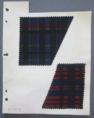 Fab-Tex Inc.. <em>Fabric Swatch</em>, 1963-1966. Cotton, sheet: 8 1/4 x 10 1/2 in. (21 x 26.7 cm). Brooklyn Museum, Gift of Fab-Tex Inc., 67.158.31 (Photo: Brooklyn Museum, CUR.67.158.31.jpg)