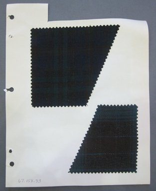 Fab-Tex Inc.. <em>Fabric Swatch</em>, 1963-1966. Wool, sheet: 8 1/4 x 10 1/2 in. (21 x 26.7 cm). Brooklyn Museum, Gift of Fab-Tex Inc., 67.158.33 (Photo: Brooklyn Museum, CUR.67.158.33.jpg)