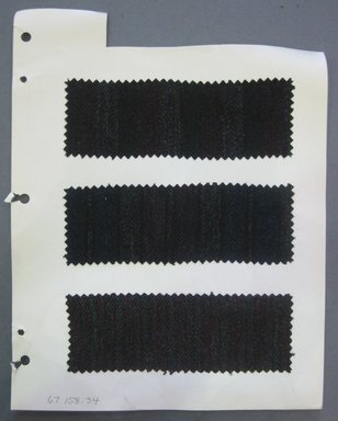 Fab-Tex Inc.. <em>Fabric Swatch</em>, 1963-1966. Wool, sheet: 8 1/4 x 10 1/2 in. (21 x 26.7 cm). Brooklyn Museum, Gift of Fab-Tex Inc., 67.158.34 (Photo: Brooklyn Museum, CUR.67.158.34.jpg)