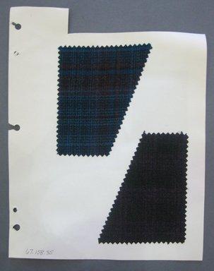 Fab-Tex Inc.. <em>Fabric Swatch</em>, 1963-1966. Wool, sheet: 8 1/4 x 10 1/2 in. (21 x 26.7 cm). Brooklyn Museum, Gift of Fab-Tex Inc., 67.158.35 (Photo: Brooklyn Museum, CUR.67.158.35.jpg)