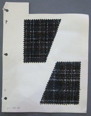 Fab-Tex Inc.. <em>Fabric Swatch</em>, 1963-1966. Wool, sheet: 8 1/4 x 10 1/2 in. (21 x 26.7 cm). Brooklyn Museum, Gift of Fab-Tex Inc., 67.158.36 (Photo: Brooklyn Museum, CUR.67.158.36.jpg)