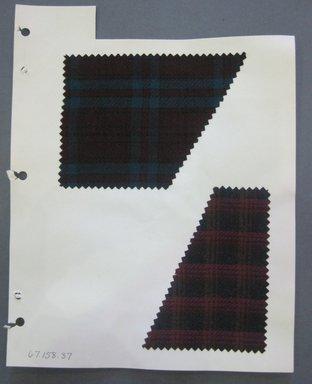Fab-Tex Inc.. <em>Fabric Swatch</em>, 1963-1966. Wool (cotton blend?), sheet: 8 1/4 x 10 1/2 in. (21 x 26.7 cm). Brooklyn Museum, Gift of Fab-Tex Inc., 67.158.37 (Photo: Brooklyn Museum, CUR.67.158.37.jpg)