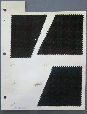 Fab-Tex Inc.. <em>Fabric Swatch</em>, 1963-1966. Wool, sheet: 8 1/4 x 10 1/2 in. (21 x 26.7 cm). Brooklyn Museum, Gift of Fab-Tex Inc., 67.158.38 (Photo: Brooklyn Museum, CUR.67.158.38.jpg)