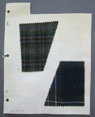 Fab-Tex Inc.. <em>Fabric Swatch</em>, 1963-1966. Wool, sheet: 8 1/4 x 10 1/2 in. (21 x 26.7 cm). Brooklyn Museum, Gift of Fab-Tex Inc., 67.158.39 (Photo: Brooklyn Museum, CUR.67.158.39.jpg)