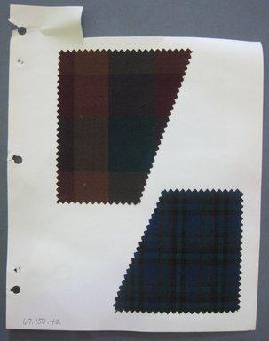 Fab-Tex Inc.. <em>Fabric Swatch</em>, 1963-1966. Silk, sheet: 8 1/4 x 10 1/2 in. (21 x 26.7 cm). Brooklyn Museum, Gift of Fab-Tex Inc., 67.158.42 (Photo: Brooklyn Museum, CUR.67.158.42.jpg)