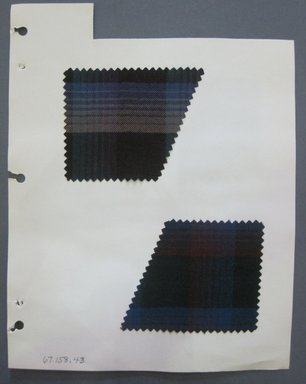 Fab-Tex Inc.. <em>Fabric Swatch</em>, 1963-1966. Wool and cotton blend, sheet: 8 1/4 x 10 1/2 in. (21 x 26.7 cm). Brooklyn Museum, Gift of Fab-Tex Inc., 67.158.43 (Photo: Brooklyn Museum, CUR.67.158.43.jpg)