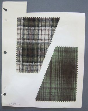 Fab-Tex Inc.. <em>Fabric Swatch</em>, 1963-1966. Cotton and wool blend, sheet: 8 1/4 x 10 1/2 in. (21 x 26.7 cm). Brooklyn Museum, Gift of Fab-Tex Inc., 67.158.44 (Photo: Brooklyn Museum, CUR.67.158.44.jpg)