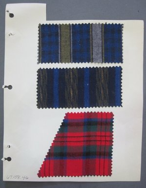 Fab-Tex Inc.. <em>Fabric Swatch</em>, 1963-1966. Cotton, sheet: 8 1/4 x 10 1/2 in. (21 x 26.7 cm). Brooklyn Museum, Gift of Fab-Tex Inc., 67.158.46 (Photo: Brooklyn Museum, CUR.67.158.46.jpg)