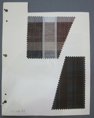 Fab-Tex Inc.. <em>Fabric Swatch</em>, 1963-1966. Cotton, sheet: 8 1/4 x 10 1/2 in. (21 x 26.7 cm). Brooklyn Museum, Gift of Fab-Tex Inc., 67.158.47 (Photo: Brooklyn Museum, CUR.67.158.47.jpg)