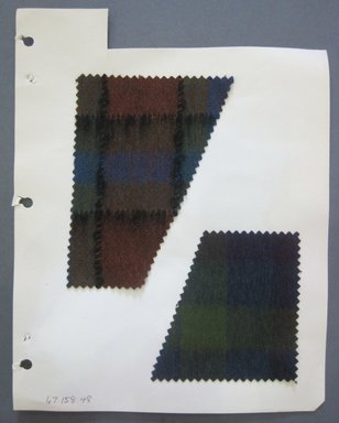 Fab-Tex Inc.. <em>Fabric Swatch</em>, 1963-1966. Wool, sheet: 8 1/4 x 10 1/2 in. (21 x 26.7 cm). Brooklyn Museum, Gift of Fab-Tex Inc., 67.158.48 (Photo: Brooklyn Museum, CUR.67.158.48.jpg)