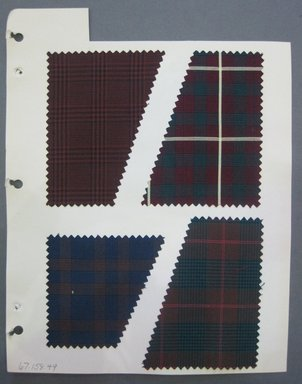 Fab-Tex Inc.. <em>Fabric Swatch</em>, 1963-1966. Silk, sheet: 8 1/4 x 10 1/2 in. (21 x 26.7 cm). Brooklyn Museum, Gift of Fab-Tex Inc., 67.158.49 (Photo: Brooklyn Museum, CUR.67.158.49.jpg)