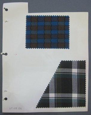 Fab-Tex Inc.. <em>Fabric Swatch</em>, 1963-1966. Cotton, sheet: 8 1/4 x 10 1/2 in. (21 x 26.7 cm). Brooklyn Museum, Gift of Fab-Tex Inc., 67.158.52 (Photo: Brooklyn Museum, CUR.67.158.52.jpg)