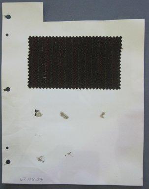 Fab-Tex Inc.. <em>Fabric Swatch</em>, 1963-1966. Wool, sheet: 8 1/4 x 10 1/2 in. (21 x 26.7 cm). Brooklyn Museum, Gift of Fab-Tex Inc., 67.158.54 (Photo: Brooklyn Museum, CUR.67.158.54.jpg)
