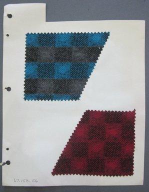 Fab-Tex Inc.. <em>Fabric Swatch</em>, 1963-1966. Wool, sheet: 8 1/4 x 10 1/2 in. (21 x 26.7 cm). Brooklyn Museum, Gift of Fab-Tex Inc., 67.158.56 (Photo: Brooklyn Museum, CUR.67.158.56.jpg)