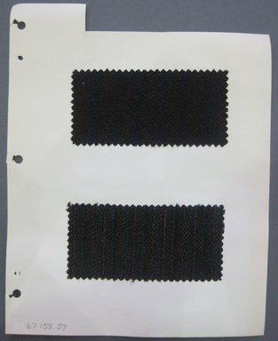 Fab-Tex Inc.. <em>Fabric Swatch</em>, 1963-1966. Wool, sheet: 8 1/4 x 10 1/2 in. (21 x 26.7 cm). Brooklyn Museum, Gift of Fab-Tex Inc., 67.158.57 (Photo: Brooklyn Museum, CUR.67.158.57.jpg)