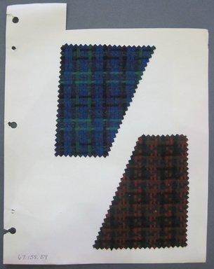 Fab-Tex Inc.. <em>Fabric Swatch</em>, 1963-1966. Wool, sheet: 8 1/4 x 10 1/2 in. (21 x 26.7 cm). Brooklyn Museum, Gift of Fab-Tex Inc., 67.158.59 (Photo: Brooklyn Museum, CUR.67.158.59.jpg)
