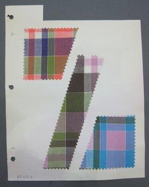 Fab-Tex Inc.. <em>Fabric Swatch</em>, 1963-1966. Cotton, sheet: 8 1/4 x 10 1/2 in. (21 x 26.7 cm). Brooklyn Museum, Gift of Fab-Tex Inc., 67.158.6 (Photo: Brooklyn Museum, CUR.67.158.6.jpg)