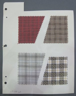 Fab-Tex Inc.. <em>Fabric Swatch</em>, 1963-1966. Cotton and/or linen, sheet: 8 1/4 x 10 1/2 in. (21 x 26.7 cm). Brooklyn Museum, Gift of Fab-Tex Inc., 67.158.60 (Photo: Brooklyn Museum, CUR.67.158.60.jpg)