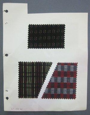 Fab-Tex Inc.. <em>Fabric Swatch</em>, 1963-1966. Cotton, sheet: 8 1/4 x 10 1/2 in. (21 x 26.7 cm). Brooklyn Museum, Gift of Fab-Tex Inc., 67.158.61 (Photo: Brooklyn Museum, CUR.67.158.61.jpg)