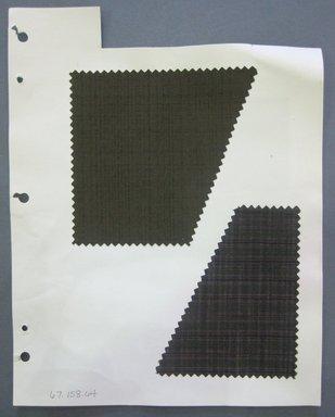 Fab-Tex Inc.. <em>Fabric Swatch</em>, 1963-1966. Silk, sheet: 8 1/4 x 10 1/2 in. (21 x 26.7 cm). Brooklyn Museum, Gift of Fab-Tex Inc., 67.158.64 (Photo: Brooklyn Museum, CUR.67.158.64.jpg)