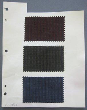 Fab-Tex Inc.. <em>Fabric Swatch</em>, 1963-1966. Silk, sheet: 3 3/4 x 3 1/2 in. (9.5 x 8.9 cm). Brooklyn Museum, Gift of Fab-Tex Inc., 67.158.66 (Photo: Brooklyn Museum, CUR.67.158.66.jpg)