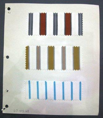 Fab-Tex Inc.. <em>Fabric Swatch</em>, 1963-1966. Cotton, sheet: 8 1/4 x 9 1/2 in. (21 x 24.1 cm). Brooklyn Museum, Gift of Fab-Tex Inc., 67.158.69 (Photo: Brooklyn Museum, CUR.67.158.69.jpg)