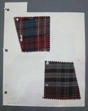 Fab-Tex Inc.. <em>Fabric Swatch</em>, 1963-1966. Cotton, sheet: 3 1/4 x 3 in. (8.3 x 7.6 cm). Brooklyn Museum, Gift of Fab-Tex Inc., 67.158.7 (Photo: Brooklyn Museum, CUR.67.158.7.jpg)