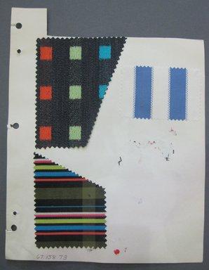 Fab-Tex Inc.. <em>Fabric Swatch</em>, 1963-1966. Cotton and silk, sheet: 8 1/4 x 10 1/2 in. (21 x 26.7 cm). Brooklyn Museum, Gift of Fab-Tex Inc., 67.158.73 (Photo: Brooklyn Museum, CUR.67.158.73.jpg)