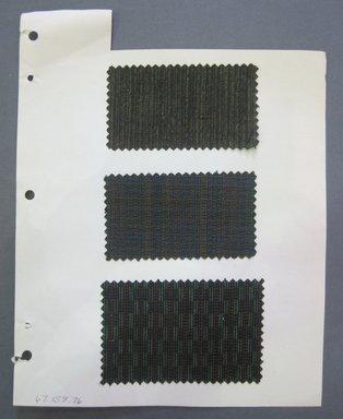 Fab-Tex Inc.. <em>Fabric Swatch</em>, 1963-1966. Cotton, sheet: 8 1/4 x 10 1/2 in. (21 x 26.7 cm). Brooklyn Museum, Gift of Fab-Tex Inc., 67.158.76 (Photo: Brooklyn Museum, CUR.67.158.76.jpg)