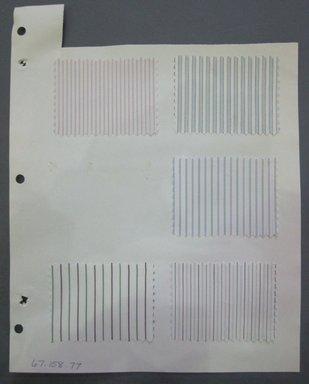 Fab-Tex Inc.. <em>Fabric Swatch</em>, 1963-1966. Cotton, sheet: 8 1/4 x 10 1/2 in. (21 x 26.7 cm). Brooklyn Museum, Gift of Fab-Tex Inc., 67.158.77 (Photo: Brooklyn Museum, CUR.67.158.77.jpg)