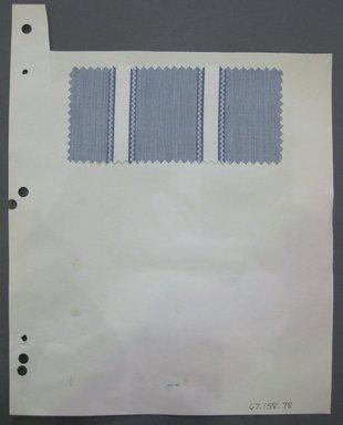 Fab-Tex Inc.. <em>Fabric Swatch</em>, 1963-1966. Cotton, sheet: 8 1/4 x 10 1/2 in. (21 x 26.7 cm). Brooklyn Museum, Gift of Fab-Tex Inc., 67.158.79 (Photo: Brooklyn Museum, CUR.67.158.79.jpg)