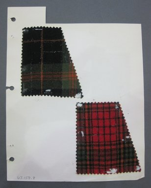 Fab-Tex Inc.. <em>Fabric Swatch</em>, 1963-1966. Cotton and wool, sheet: 8 1/4 x 10 1/2 in. (21 x 26.7 cm). Brooklyn Museum, Gift of Fab-Tex Inc., 67.158.8 (Photo: Brooklyn Museum, CUR.67.158.8.jpg)