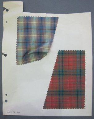 Fab-Tex Inc.. <em>Fabric Swatch</em>, 1963-1966. Cotton, sheet: 8 1/4 x 10 1/2 in. (21 x 26.7 cm). Brooklyn Museum, Gift of Fab-Tex Inc., 67.158.80 (Photo: Brooklyn Museum, CUR.67.158.80.jpg)