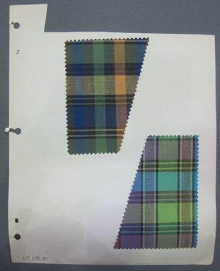 Fab-Tex Inc.. <em>Fabric Swatch</em>, 1963-1966. Cotton, sheet: 8 1/4 x 10 1/2 in. (21 x 26.7 cm). Brooklyn Museum, Gift of Fab-Tex Inc., 67.158.81 (Photo: Brooklyn Museum, CUR.67.158.81.jpg)