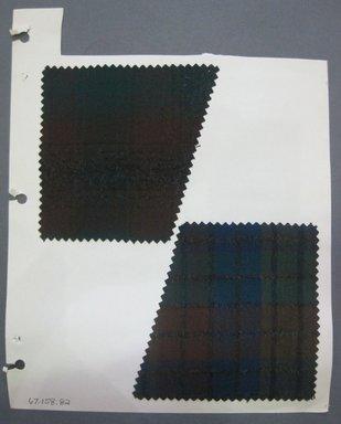Fab-Tex Inc.. <em>Fabric Swatch</em>, 1963-1966. Cotton (wool blend?), sheet: 8 1/4 x 10 1/2 in. (21 x 26.7 cm). Brooklyn Museum, Gift of Fab-Tex Inc., 67.158.82 (Photo: Brooklyn Museum, CUR.67.158.82.jpg)