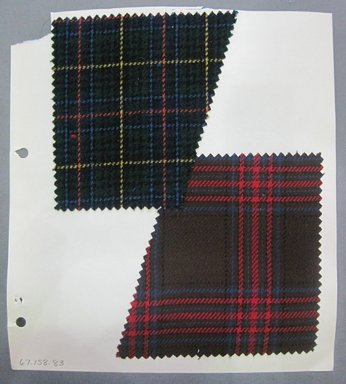 Fab-Tex Inc.. <em>Fabric Swatch</em>, 1963-1966. Wool, sheet: 8 1/4 x 10 1/2 in. (21 x 26.7 cm). Brooklyn Museum, Gift of Fab-Tex Inc., 67.158.83 (Photo: Brooklyn Museum, CUR.67.158.83.jpg)