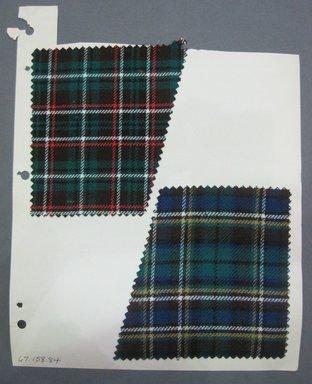 Fab-Tex Inc.. <em>Fabric Swatch</em>, 1963-1966. Wool, sheet: 8 1/4 x 10 1/2 in. (21 x 26.7 cm). Brooklyn Museum, Gift of Fab-Tex Inc., 67.158.84 (Photo: Brooklyn Museum, CUR.67.158.84.jpg)