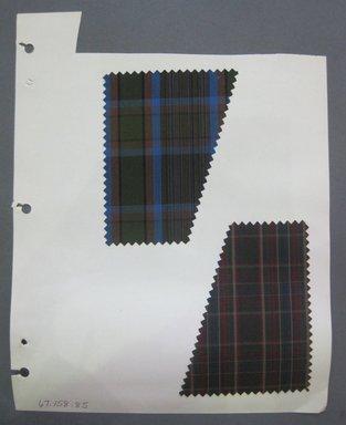 Fab-Tex Inc.. <em>Fabric Swatch</em>, 1963-1966. Cotton, sheet: 8 1/4 x 10 1/2 in. (21 x 26.7 cm). Brooklyn Museum, Gift of Fab-Tex Inc., 67.158.85 (Photo: Brooklyn Museum, CUR.67.158.85.jpg)