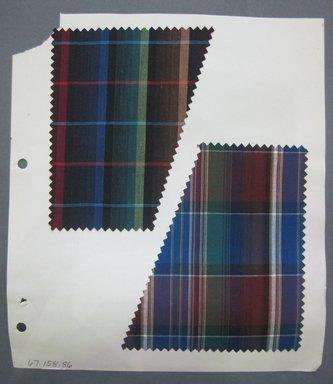 Fab-Tex Inc.. <em>Fabric Swatch</em>, 1963-1966. Cotton, sheet: 8 1/2 x 10 1/2 in. (21.6 x 26.7 cm). Brooklyn Museum, Gift of Fab-Tex Inc., 67.158.86 (Photo: Brooklyn Museum, CUR.67.158.86.jpg)