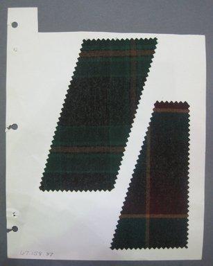 Fab-Tex Inc.. <em>Fabric Swatch</em>, 1963-1966. Wool, sheet: 8 1/4 x 10 1/2 in. (21 x 26.7 cm). Brooklyn Museum, Gift of Fab-Tex Inc., 67.158.87 (Photo: Brooklyn Museum, CUR.67.158.87.jpg)