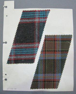 Fab-Tex Inc.. <em>Fabric Swatch</em>, 1963-1966. Wool, sheet: 8 1/2 x 10 1/2 in. (21.6 x 26.7 cm). Brooklyn Museum, Gift of Fab-Tex Inc., 67.158.88 (Photo: Brooklyn Museum, CUR.67.158.88.jpg)