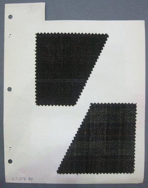 Fab-Tex Inc.. <em>Fabric Swatch</em>, 1963-1966. Wool, sheet: 8 1/4 x 10 1/2 in. (21 x 26.7 cm). Brooklyn Museum, Gift of Fab-Tex Inc., 67.158.89 (Photo: Brooklyn Museum, CUR.67.158.89.jpg)